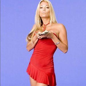 Red mini dress worn in Vh1's I Love Money